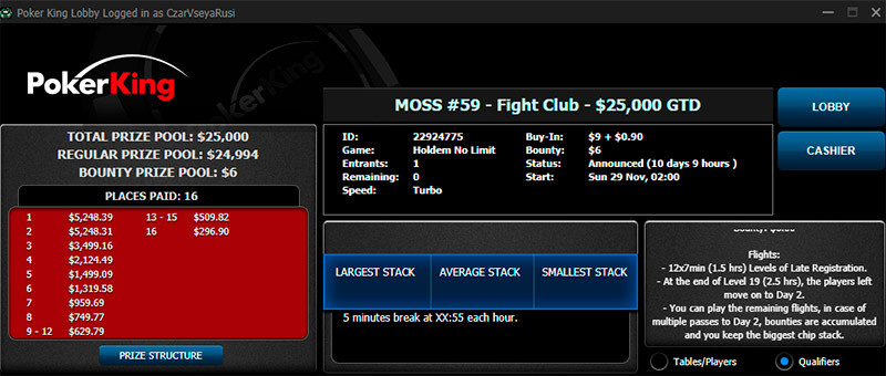 $25K Fight Club PKO